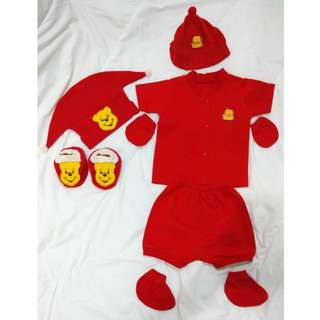 Red Baby Clothes Set
