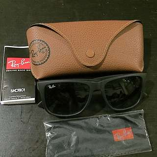 Authentic RayBan Justin Classic RB4165 601/8G