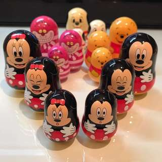 Disney 廸士尼 俄羅斯套娃 (Mickey米奇 101班點狗 小熊維尼 Winnie the pooh ..)