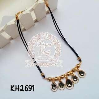 Kalung Korea / Kalung Fashion Korea - Dark Grey Gold - 2691
