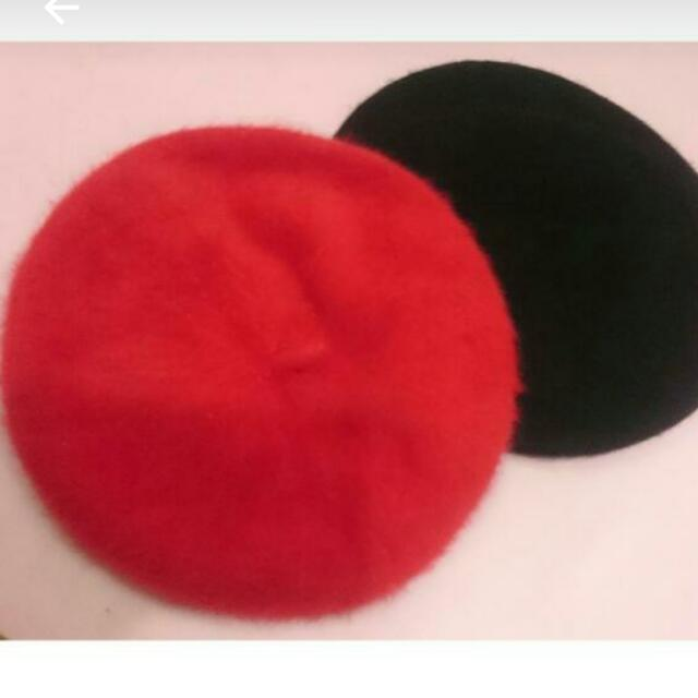 (剩紅色)貝蕾帽,畫家帽