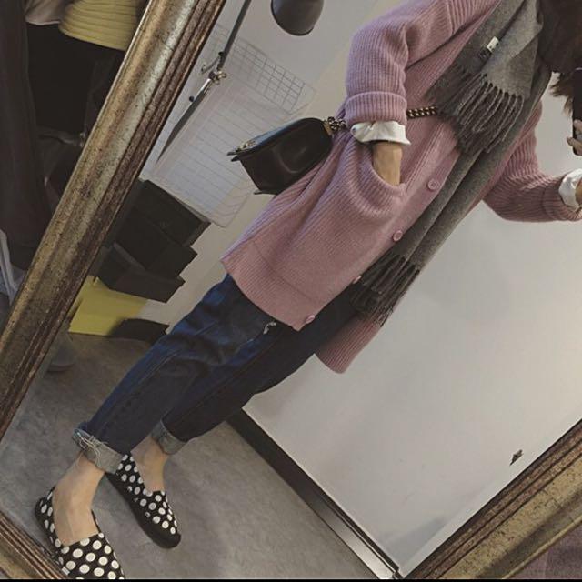 粉色 針織外套