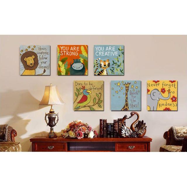 裝飾畫 非洲動物 無框畫/掛畫/家居擺飾禮品