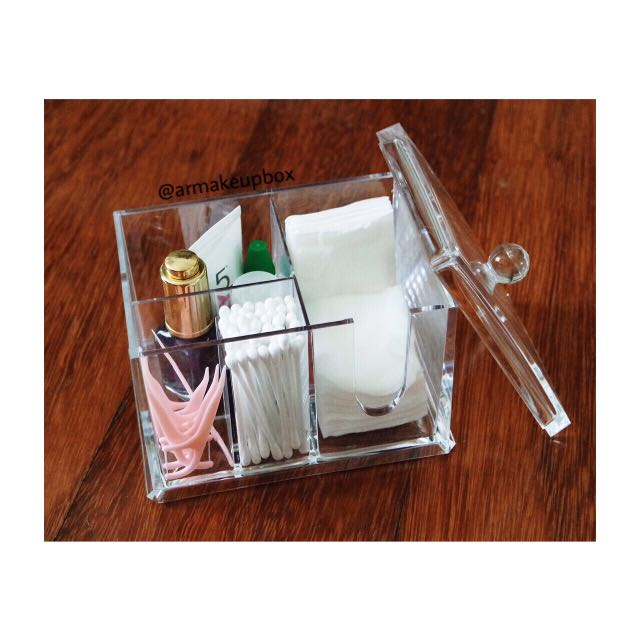 Acrylic cotton organizer