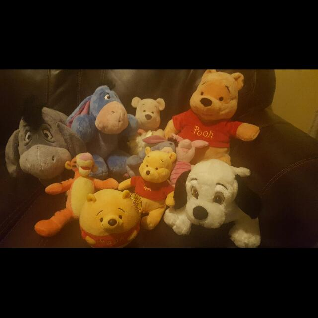 Assorted Disney Plush Toys