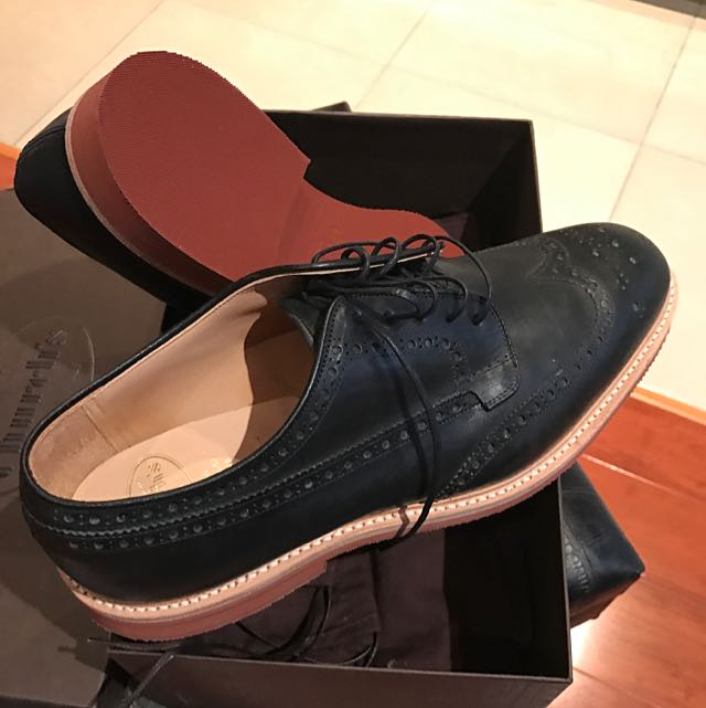 Authentic Brand New Size: 43.5 Men's Church Oxford Derby, Red Rubber Sole
