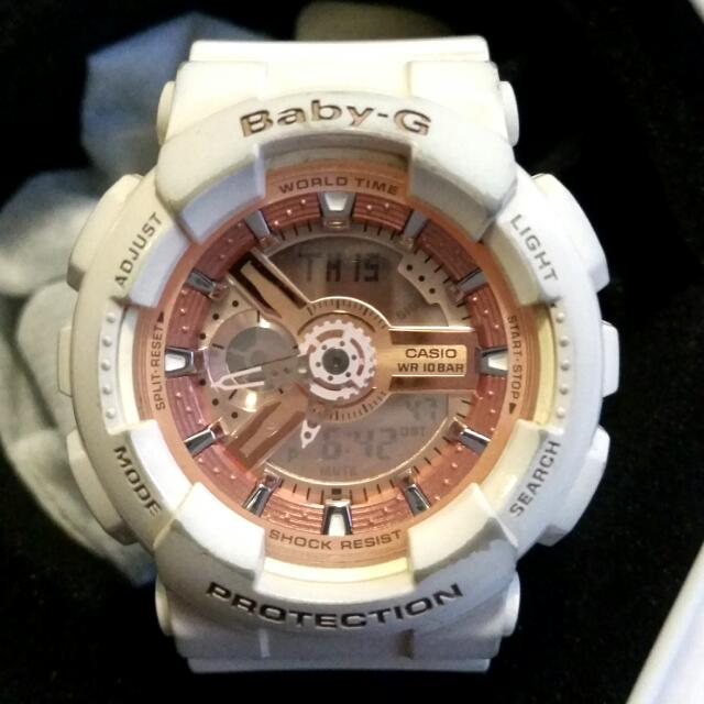 Baby G- White And Rose Gold