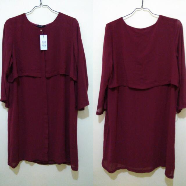 Baju Atasan / Dress EPRISE maroon