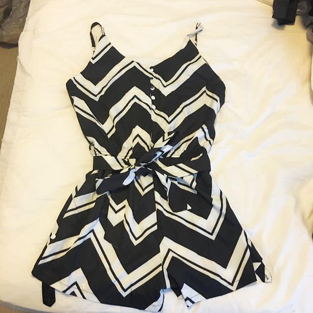 Black & White Playsuit