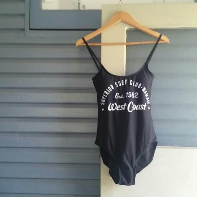 Black Bodysuit / Swimsuit / One Piece