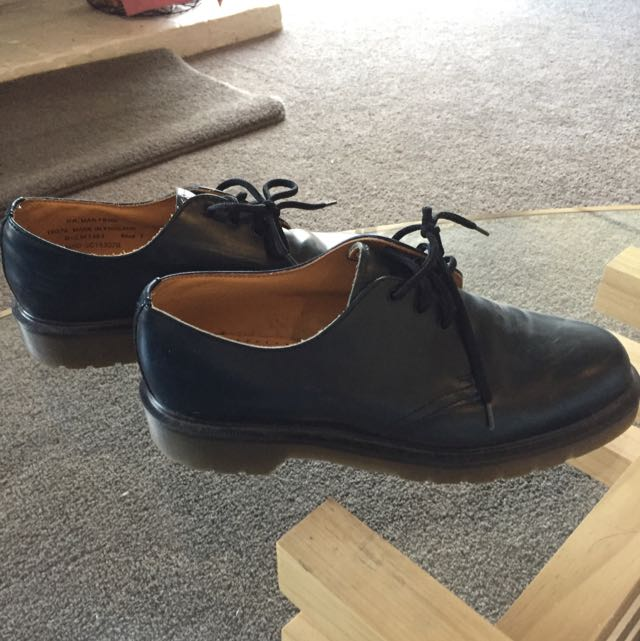 Blue DR. Martin School Shoes