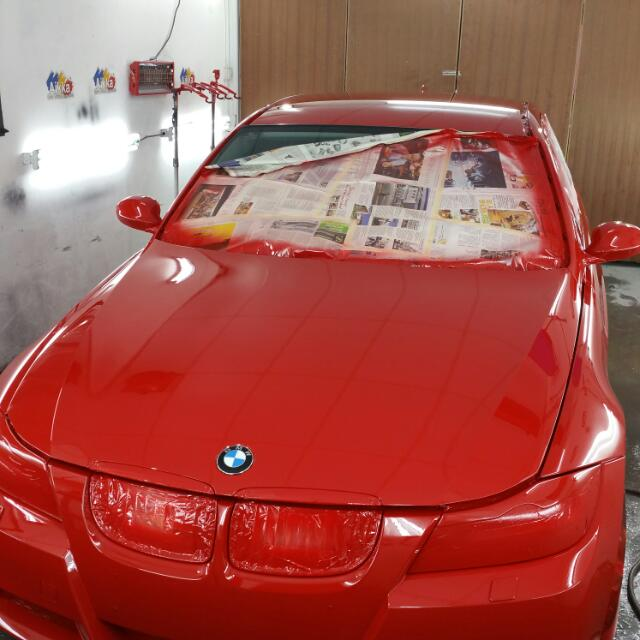 Bmw Makeover Done 7 Angelz Singapore Original Ferrari Red Colour Code Www 7angelz Com Hp 84903369 Mon To Fri 1pm To 10pm Car Accessories On Carousell