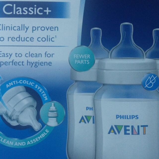 Brand New Avent Classic+, 9 oz. (3 in 1 pack) Sale! Sale! Sale! Repriced from 1,100 to 1,050