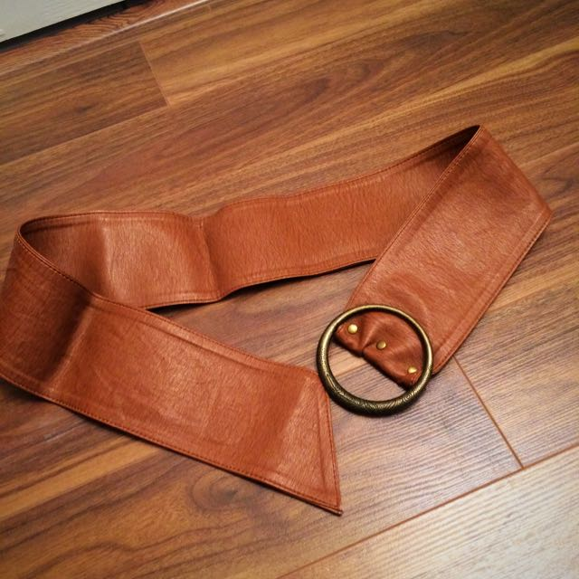 Brown Pleather Belt
