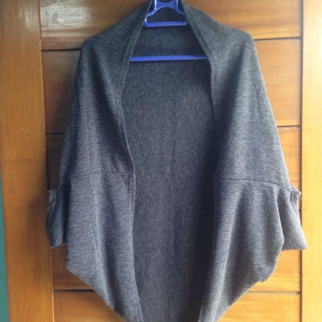 Grey Crop Cardigan
