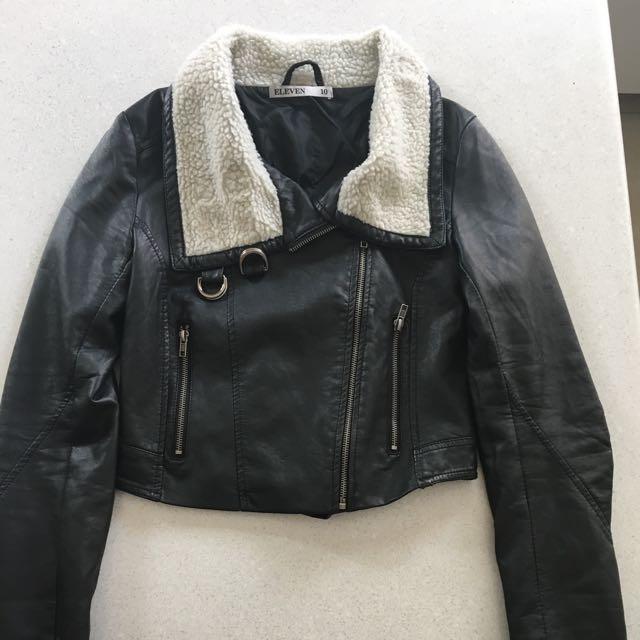 Eleven Faux Leather Jacket Size 8