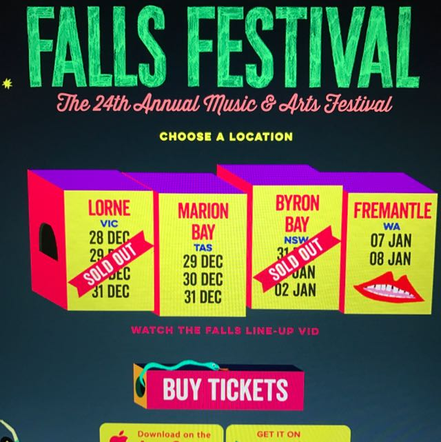 Falls Festival Lorne VIC - 1x Camping Ticket