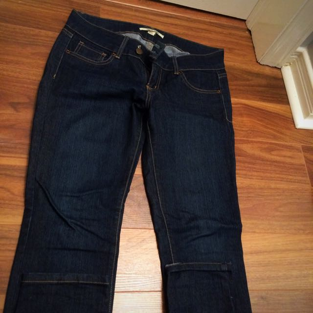 Forever 21 - Low Rise Dark Jeans - Size 28