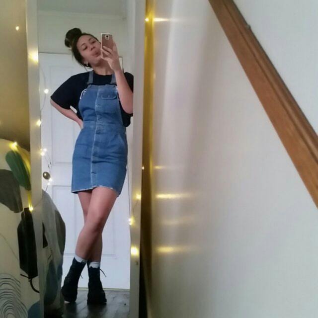Forever 21 Denim Skirt Overalls
