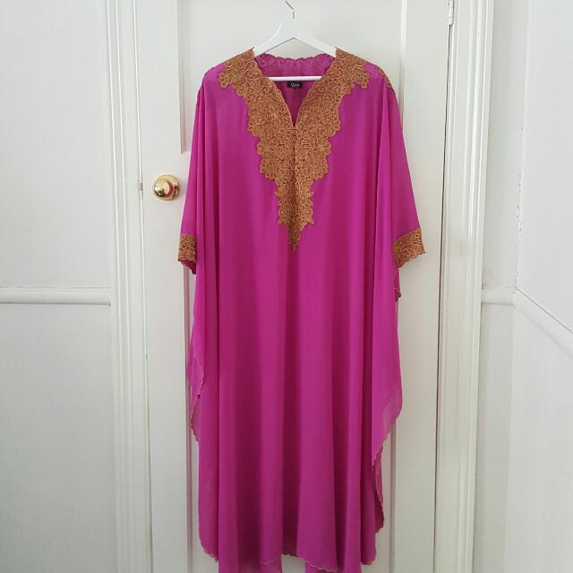 Fuschia Ethnic Maxi Dress