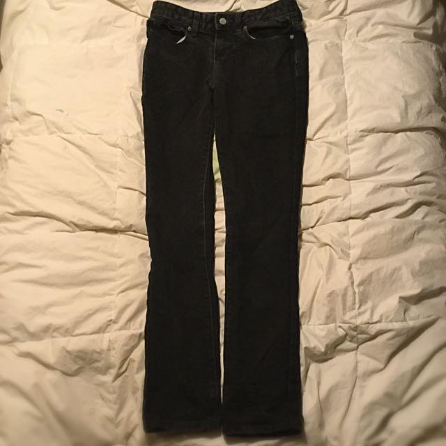 Girls Black Straight Cut Jeans