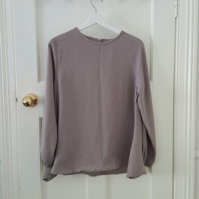 Grey Basic Blouse