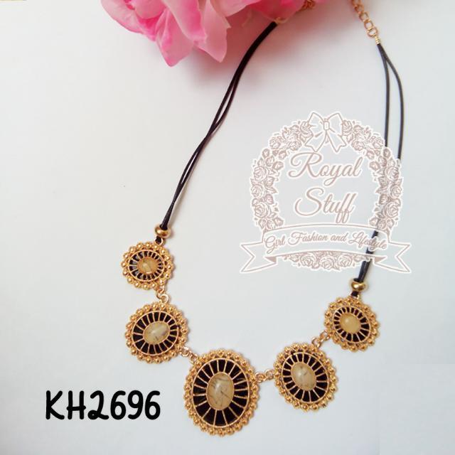 Kalung Fashion Korea/ Kalung Korea - Ethnic Gold 2696