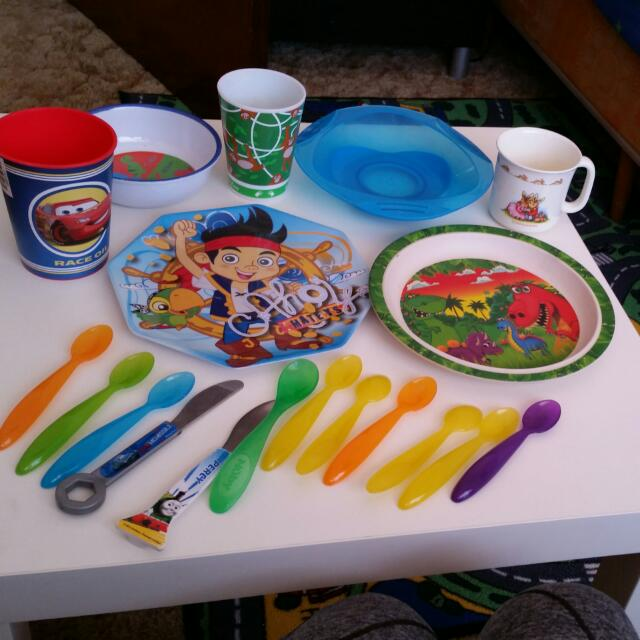 Kids Plates Cups Ect