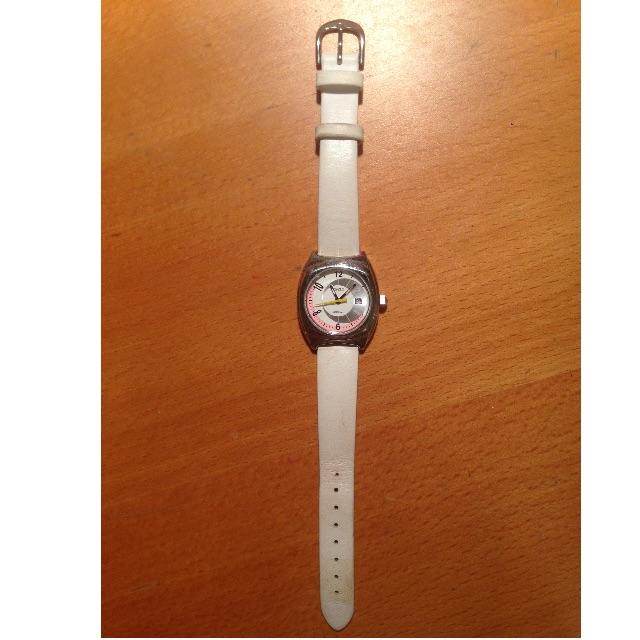Leath wristwatch