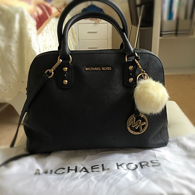 NEGOTIABLE Michael Kors Logo Fob Bowling Bag