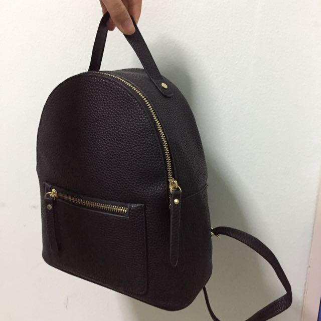 miniso small black backpack
