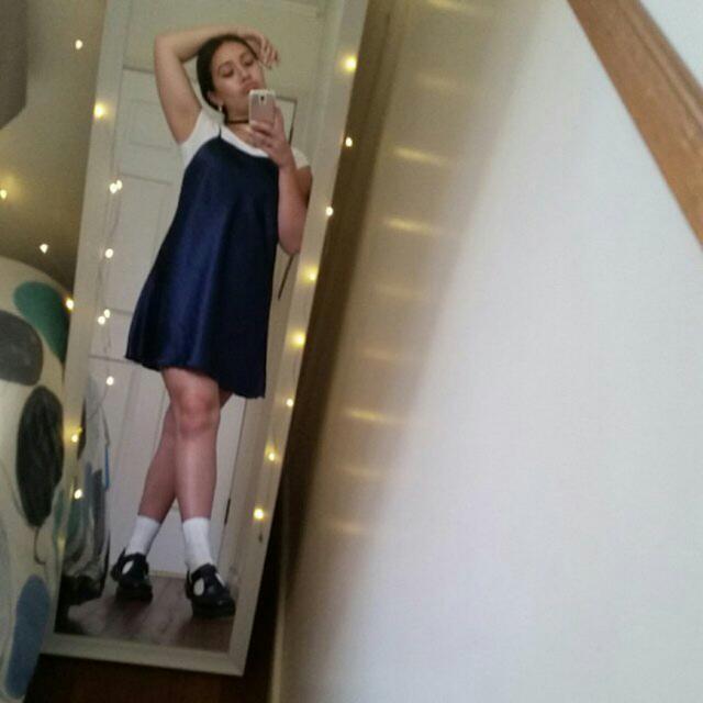 Navy Blue Slip Dress