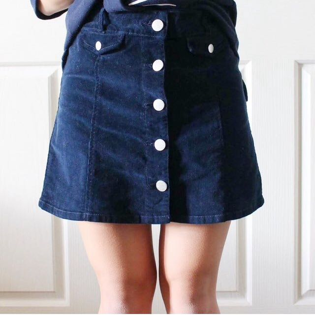 FREE SHIPPING Navy Button Up Dress