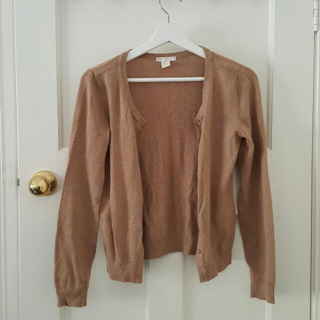 Nude Brown Cardigan