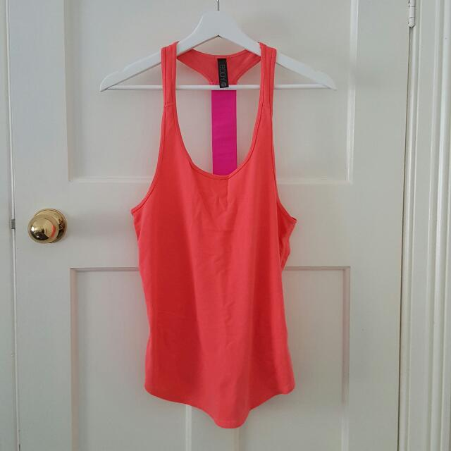Orange Workout Tank Top