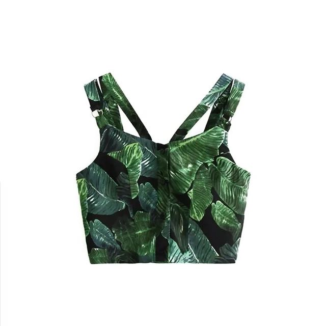 Palm Leaves Summer Top
