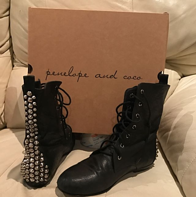 Penelope And Coco studded boots