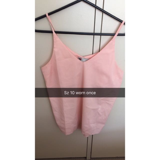 Pink Silky Singlet