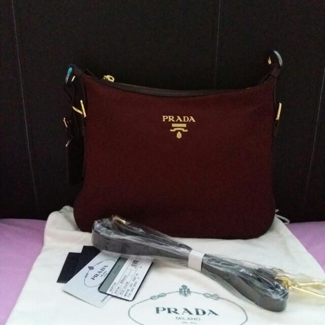 6aef529c0658 Prada Nylon Sling Bag, Women's Fashion, Bags & Wallets on Carousell