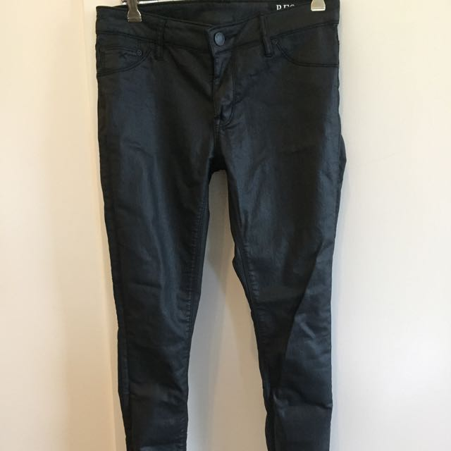 RES Denim Leather Wash Jeans