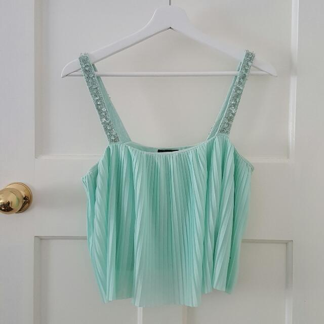 Sea Green Mermaid Crop Top