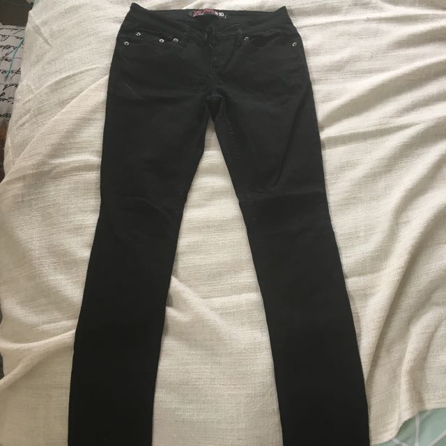 Size 10 Women's Black Denim Jeans