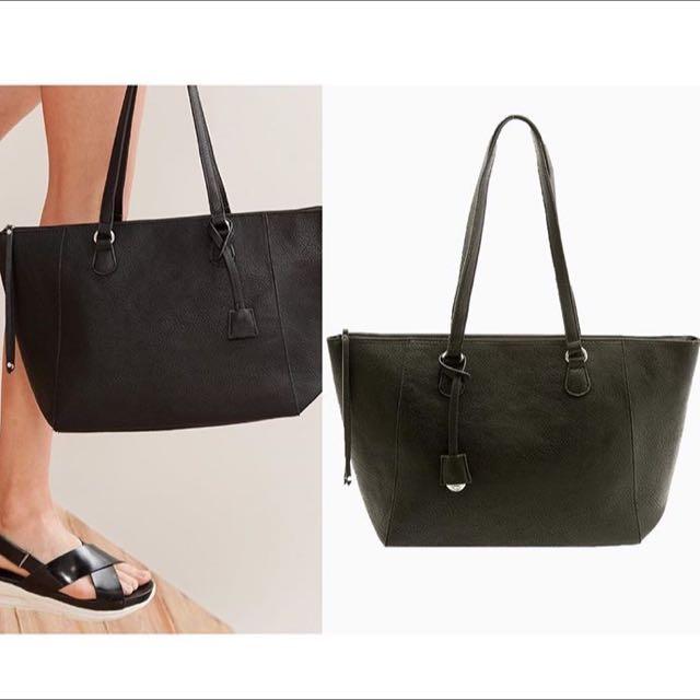tas stradivarius Shopper tote bag black