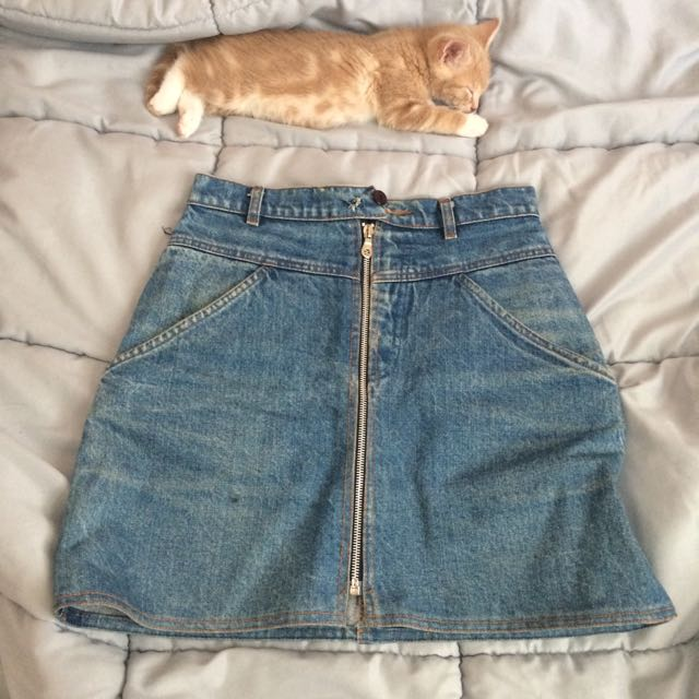 Vintage Zip Up Skirt