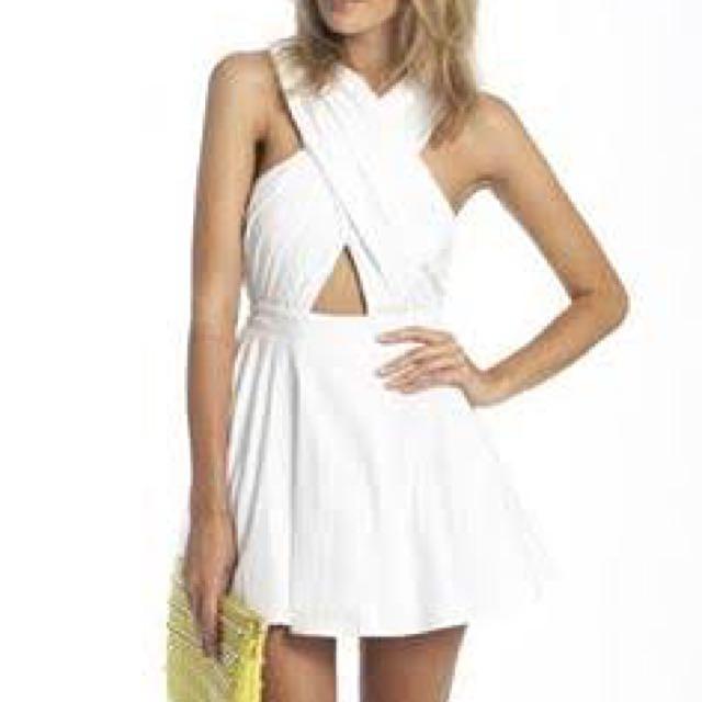 White Crossover Dress