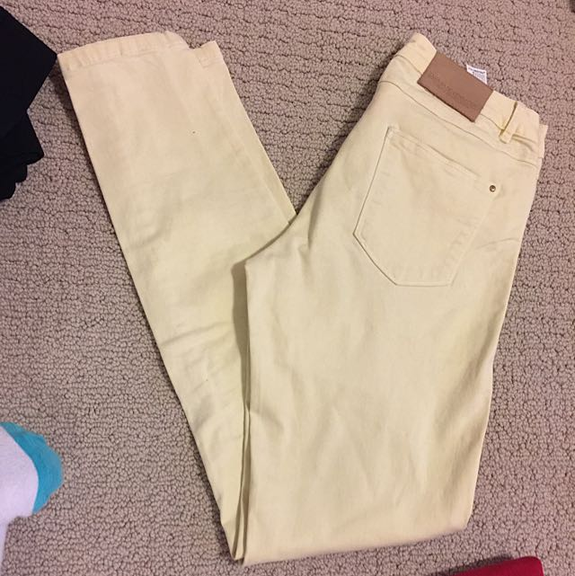 Zara Basic Yellow Pants