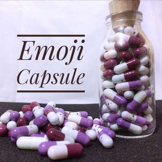 Emoji Message Capsule in A Bottle
