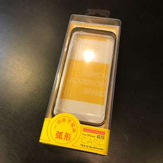 iPhone 5s SE 黑金海馬扣金屬邊框手機殼