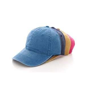 藍色素面棒球帽