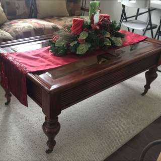Sofa, Love Seat, Wicker Chair, Coffee Table & End Table